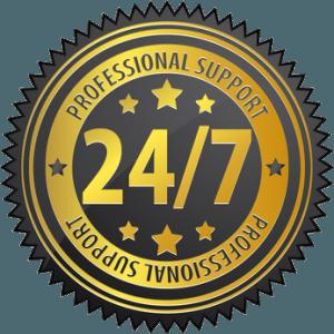 27/7 service professionnel