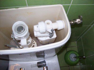mécanisme chasse d'eau réservoir toilette