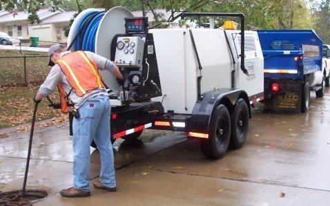 débouchage égout avec camion pompe
