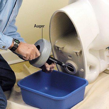 débouchage wc avec furet électrique professionnel