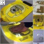 pongtu feuille autocollante méthode asiatique pour déboucher toilettes wc