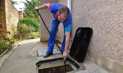 Nettoyage et entretien, débouchage chambre de visite