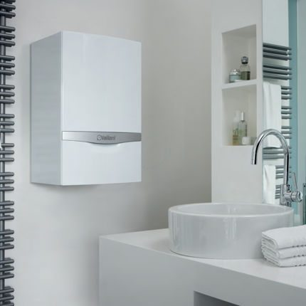 Chaudière installée dans la salle de bain