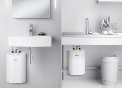 Installation chauffe eau dans la cuisine et la salle de bain