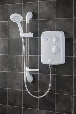 Chauffe eau placé dans la salle de douche