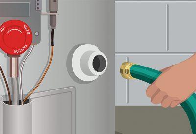 Schéma chaudière à gaz et son approvisionnement