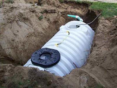 Une fosse septique
