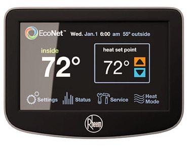 thermostat indique la température de l'eau
