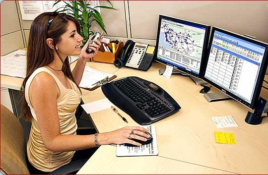 téléphoniste avec système géolocalisation